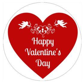 Valentines Heart Edible Print
