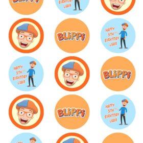 Blippi Cupcake Toppers