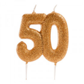 50 GOLD GLITTER CANDLE2