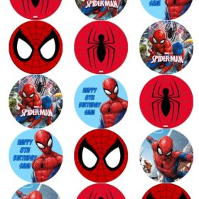 Spiderman Cupcake Edible Prints