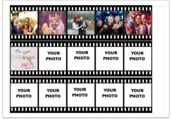 Movie Reel Edible Print