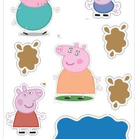 peppa pig edible print cutouts