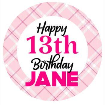 edible print birthday number