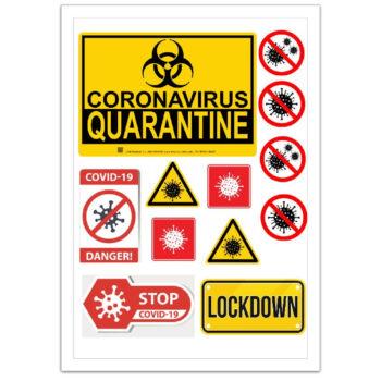 Quarantine Edible Print Cut Outs