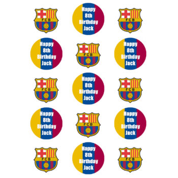Barcelona Cupcake Toppers